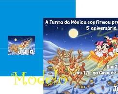Convite de Natal Turma do Mickey