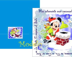 Convite Mickey Papai Noel