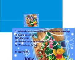 Convite de Natal Ursinho Pooh