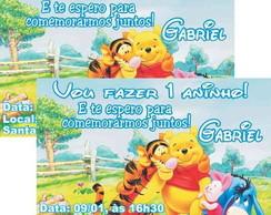 Ursinho Pooh convite anivers�rio
