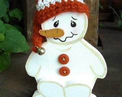 Bonequinho de Neve Sentado - N/B-21