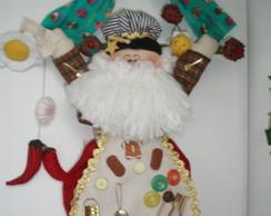 Projeto molde Papai Noel Confeiteiro