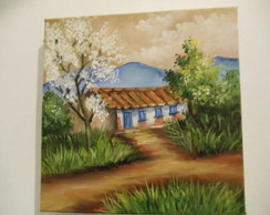 Pintura a oleo Ipe b ranco