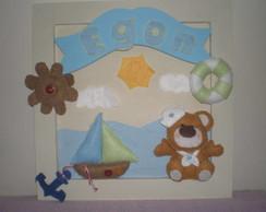 Porta Maternidade Urso Marinheiro