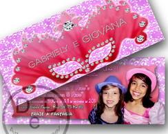 Convite Barbie Tr�s Mosqueteiras