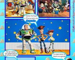 Toy story convite gibi