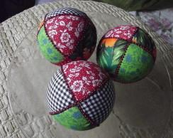 Bolas natalinas tecidos