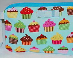 Carteira cupcakes azul [cod1]