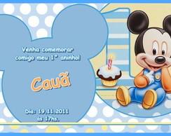 Convite- Mickey