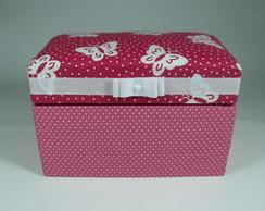 Ba� - caixa de tecido com borboletas