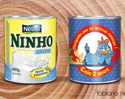 R�tulo para lata de leite Ninho 800g