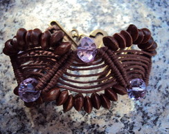 Bracelete Chocolate com Cristais