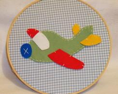 Quadro Redondo Transporte (Avi�o)