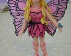 topo de bolo barbie butterfly