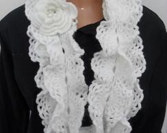 Cachecol Croch� Branco