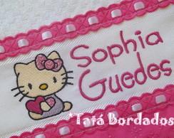 Toalha Infantil Hello Kitty -Branco/Pink