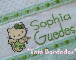 Toalha Infantil Hello Kitty-Branco/Verde