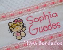 Toalha Infantil Hello Kitty -Branco/Rosa