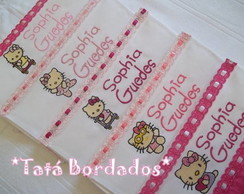 Kit Toalhas Infantis Hello Kitty - Rosa
