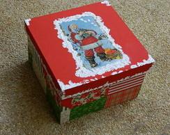 Caixa de Natal com Neve