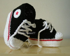 All Star baby Croch� preto/vermelho