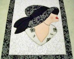 Caixa em Patch - Mulher de chap�u