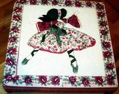Caixa em patchwork embutido - Bailarina