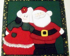 Caixa em patchwork embutido - Casal Noel