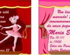 Angelina Bailarina convite anivers�rio