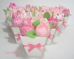 cachepos com tulipas