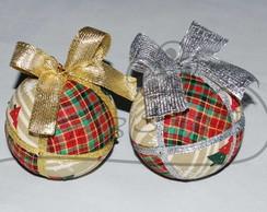 Bola de Natal em Patchwork