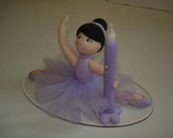 bailarina topo de bolo com velinha