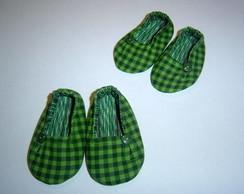 Sapatilhas Xadrez Verde