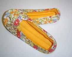 Sapatilhas Floral Amarelo