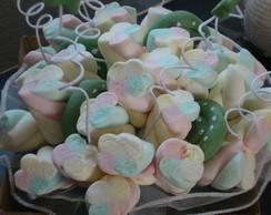 Buqu� de marshmallows verde ch� c/ P A