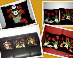 Capa Almofada Flores