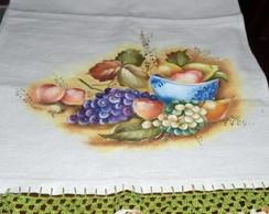 Pano de Prato Tigela com Frutas