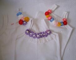 Camisetas infantis com florzinhas