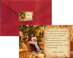 Convite Ceia de Natal Papai Noel Sentado