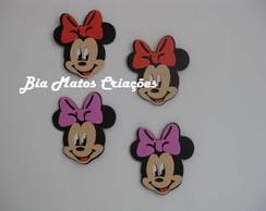Carinhas da Minnie e Mickey apliques.