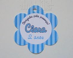 Tag Personalizado - Florzinha Azul