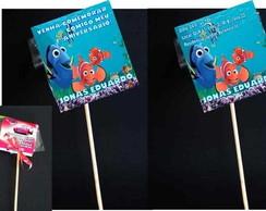 Nemo convite pirulito tag adesivo