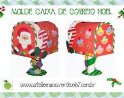 MOLDE CAIXA DE CORREIO PAPAI NOEL