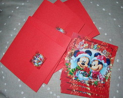Convite Mickey e Minnie Natal