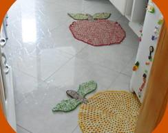 J.tapetes de barbante misto para cozinha