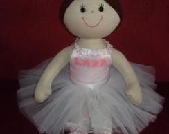 Boneca de pano bailarina personalizada