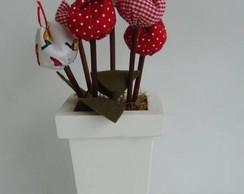 Vaso alto de tulipas - DIA DAS M�ES