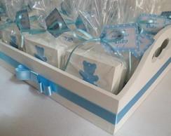 Caixa Lembrancinha Ursinho Azul