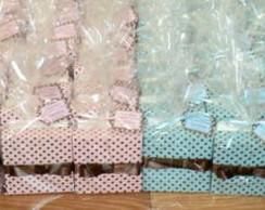 Caixa Po� Azul , Rosa , Marrom