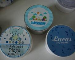 Latinhas personalizadas Ch� de beb�